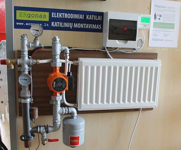 Electrode boiler system, stand - example