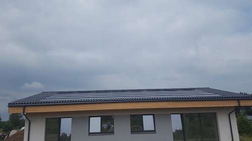Electric heating produced by solar module system
